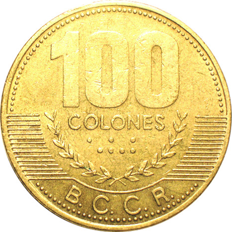 100 Colones Non Magnetic