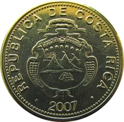 25 Colones (2nd coat of arms; magnetic) -  obverse