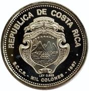 1000 Colones (Dr. Oscar Arias S.) – obverse