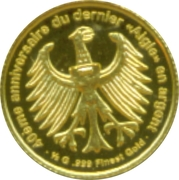 100 Francs CFA (German Silver Eagle) – reverse