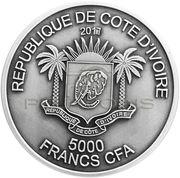 5000 Francs CFA (Elephant) – obverse