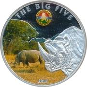 100 Francs CFA (Rhino) – reverse