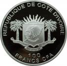 100 Francs CFA (The Pope in Papua New Guinea) – obverse