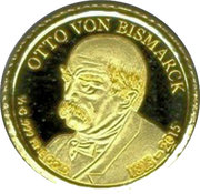 100 Francs CFA (Otto von Bismarck) – reverse