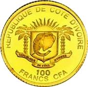 100 Francs CFA (John Paul II) – obverse