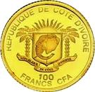 100 Francs CFA (Benedict XVI) – obverse