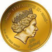 100 Francs CFA (90th Birthday of Queen Elizabeth II) – reverse