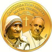 100 Francs CFA (Canonisation of Mother Teresa) – reverse