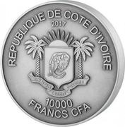 10 000 Francs CFA (Lion) – obverse