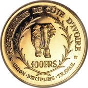 100 Francs CFA (Félix Houphouët-Boigny) – reverse