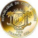 100 Francs CFA (Colossus of Rhodes) – obverse