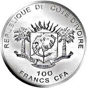 100 Francs CFA (Lion) – obverse