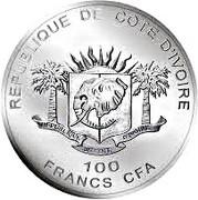 100 Francs CFA (Buffalo) – obverse