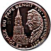 100 Francs CFA (Journey of Pope Benedict XVI) – reverse