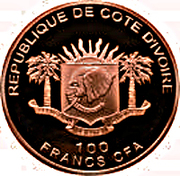 100 Francs CFA (Journey of Pope Benedict XVI) – obverse