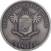 5000 Francs CFA (Leopard) – obverse