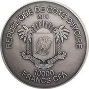 10 000 Francs CFA (Elephant) – obverse