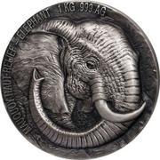 10 000 Francs CFA (Elephant) – reverse