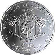 2000 Francs CFA (Night Owl) – obverse