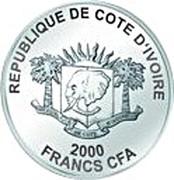 2000 Francs CFA (London Eye) – obverse