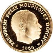 25 Francs CFA (Félix Houphouët-Boigny) – obverse