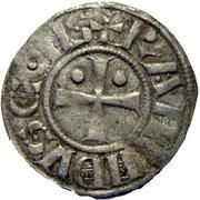 Tripoli Raymond II-III Denier à l'étoile et au Croissant – obverse