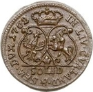 1 Solidus - Carl of Saxony (Mitau; curved shield) – reverse