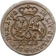 1 Solidus - Carl of Saxony (Mitau; curved shield) – reverse
