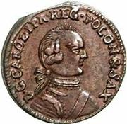 1 Solidus - Carl of Saxony (Mitau; angled shield) – obverse