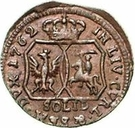 1 Solidus - Carl of Saxony (Mitau; angled shield) – reverse