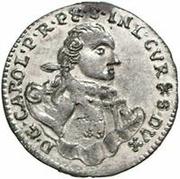 1 Grossus - Carl of Saxony (Mitau; round shields) – obverse