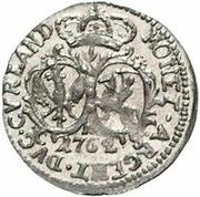 1 Grossus - Carl of Saxony (Mitau; round shields) – reverse