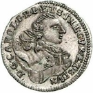 1 Grossus - Carl of Saxony (Mitau; curved shields without wreath) – obverse