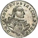 1 Grossus - Carl of Saxony (Mitau; curved shields with wreath) – obverse