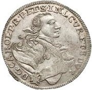 6 Grossus - Carl of Saxony (Mitau) – obverse