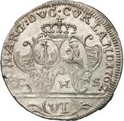 6 Grossus - Carl of Saxony (Mitau) – reverse