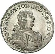 3 Grossus - Ernst Johann von Biron (Mitau) – obverse