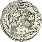 3 Grossus - Ernst Johann von Biron (Mitau) – reverse