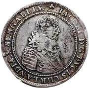 1 Thaler - Jacob Kettler (Mitau; small shields) – obverse