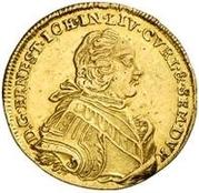 1 Dukat - Ernst Johann von Biron (Mitau; large bust) – obverse
