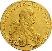 1 Dukat - Ernst Johann von Biron (Mitau; small bust) – obverse