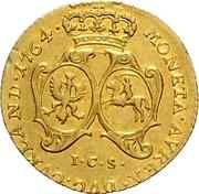 1 Dukat - Ernst Johann von Biron (Mitau; small bust) – reverse