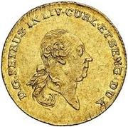 1 Dukat - Peter von Biron (Mitau) – obverse