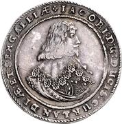1 Thaler - Jacob Kettler (Mitau; large shields) – obverse