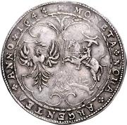 1 Thaler - Jacob Kettler (Mitau; large shields) – reverse