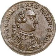 1 Solidus - Carl of Saxony (Mitau; curved shield) – obverse