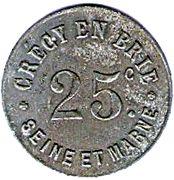 25 Centimes (Crecy en Brie) – obverse