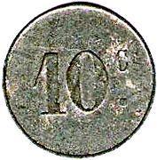 10 Centimes (Crecy en Brie) – reverse