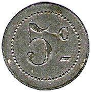 5 Centimes (Crecy en Brie) – reverse