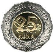 25 Kuna (Human Fetus) -  reverse